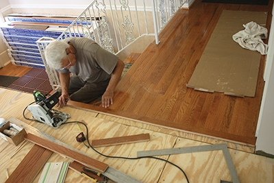 Expanding A Hardwood Floor Extreme How To - Is it hard to lay laminate flooring
