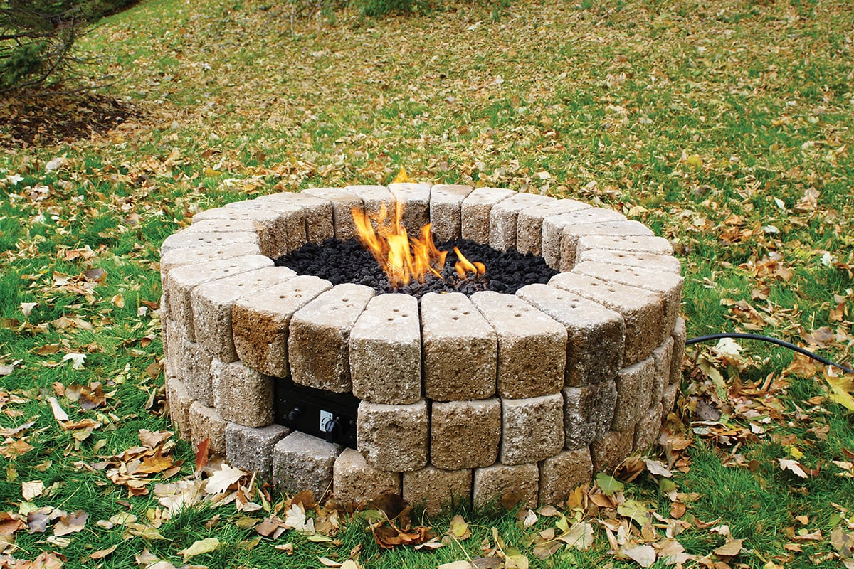 Build A Gas Fire Pit In 10 Steps - Extreme How To on Building Your Own Outdoor Fireplace id=11223