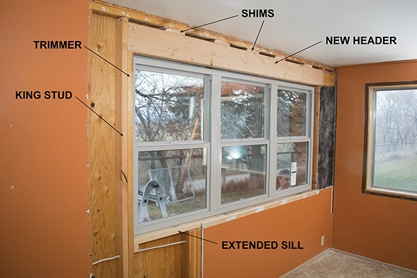 Replacing A Window With Wider Unit Extreme How To