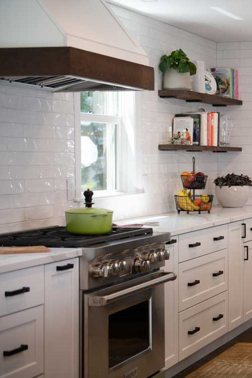 white stock cabinets that look built in