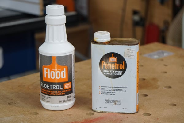 Penetrol paint thinner used to condition oil paint to reduce paint streaks