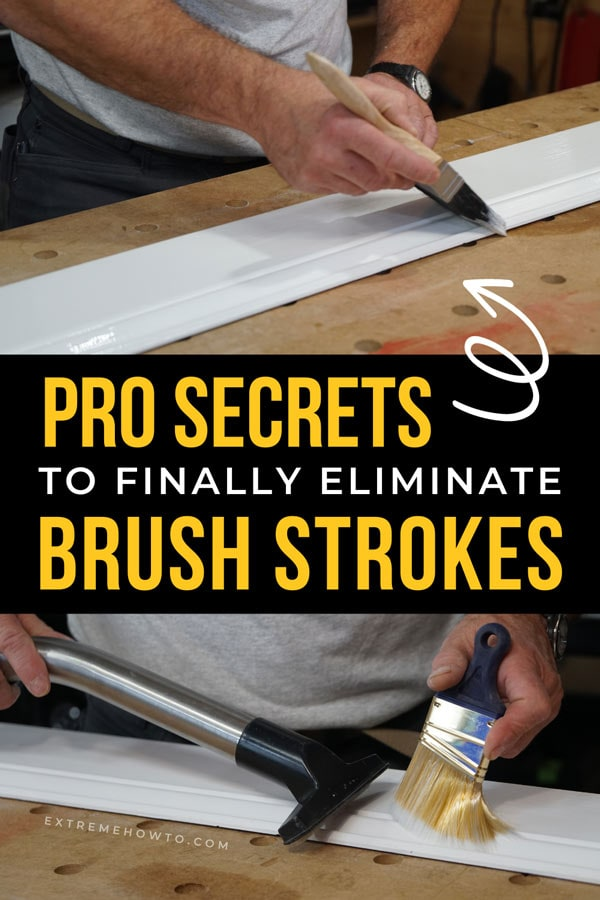 pro secrets to eliminate brush strokes on DIYY painting projects