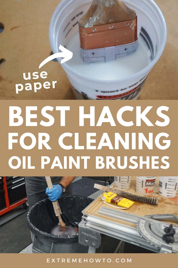 How to Clean Oil Paint Brushes DIY