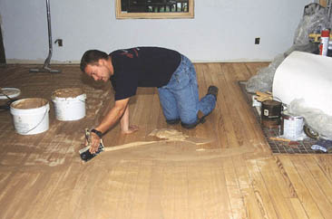 How to Fill a Wooden Floor - YouTube
