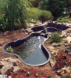 Diggin 39 peace create a water garden extreme how to Large preformed ponds