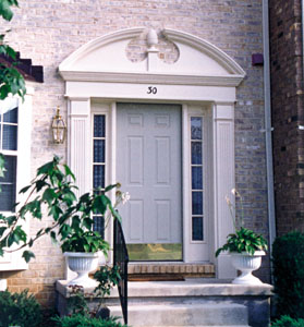 Alternative trim the power of plastics extreme how to for Exterior door pediment and pilasters