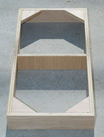 We made the toe kicks as boxes with mitered corners, triangle gussets and a center support.