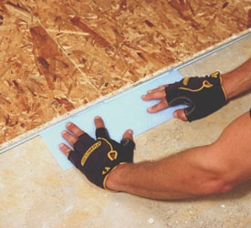 Slight dips in the floor can be shimmed with foam insulation.