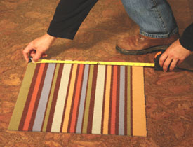 Talk about easy--modular carpet tiles couldn't be simpler to install.