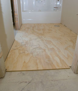 Install Plywood Underlayment For Vinyl Flooring Extreme How To - Plywood for bathroom subfloor