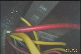 Wire bundle image taken by The Seeker DCS400.