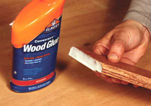 Bond the miters with a high-quality wood glue like Elmer's.