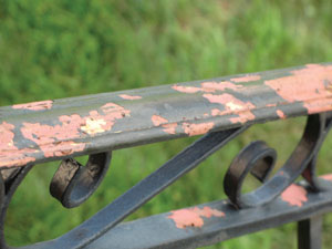 Everything from cast-iron railings to old time molding may be covered in lead paint. Check with code officials for proper removal.