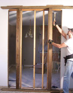 Load Bearing Walls Require Temporary Support To Carry The Weight Of Overhead Structure