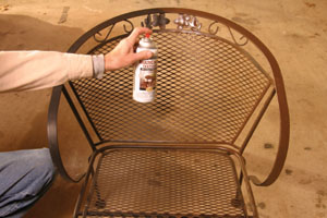 The First Step In Using Spray Paints On Outdoor Furniture Is To Remove Any  Rust And Loose Particles, Then Clean The Surface Thoroughly.