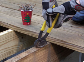 Replace an old deck with composite decking extreme how to for How much does composite decking weigh