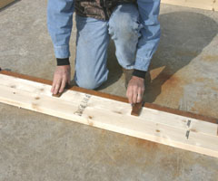 how to build an a frame house step by step