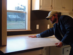 install laminate countertop sheet