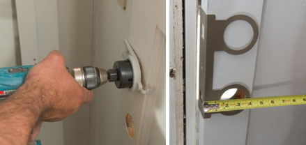 We Used The Door Armor From The Door Jamb Armor Kit As A Template To Layout The Location Of The New Deadbolt We Also Used A Guideright Door Installation