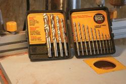Shows a craftsman drill bit set of Zirconium-coated bits