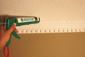 Fill all nail holes with wood filler, seal the joints with caulk and complete the project with a little touch-up paint.