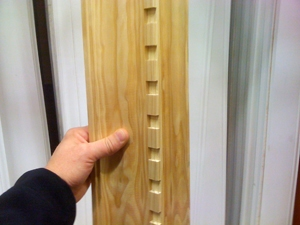 Preassembled wooden stain-grade moulding saves time and labor when homeowners prefer visible woodgrain.