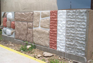There are several different colors and forms of concrete fencing to choose from