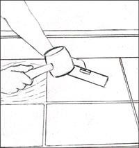 slatestep3 Installing Slate Tile