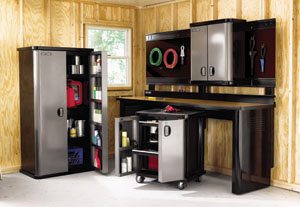 The New Craftsman Garage Storage Solutions Helps Organize Garden Tools And  Other Gear.